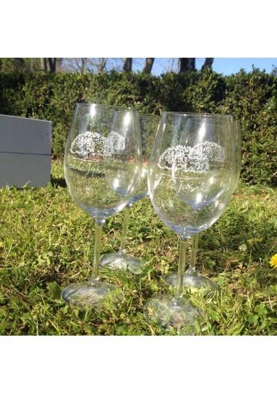 """4 Magnifiques verres """"Bordeaux"""" de Glass & Co (620 ml)"""