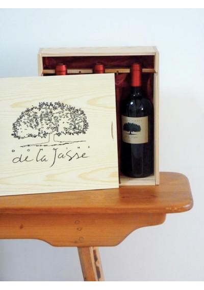 Caisse en bois - 3 bouteilles